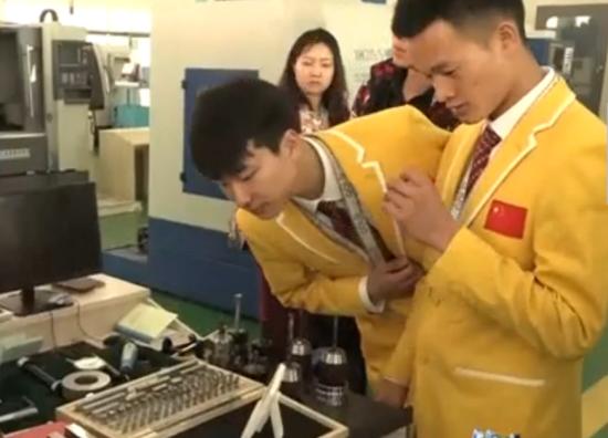 三位世界技能大赛获奖选手走进内蒙古高校 讲述奋斗青春