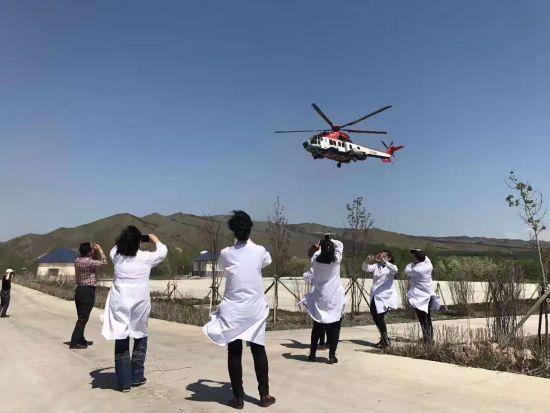 内蒙古阿尔山医疗救援直升机试飞成功
