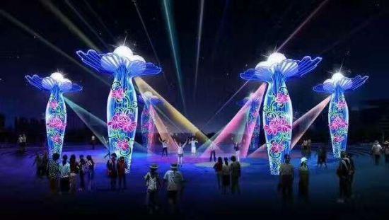 内蒙古鄂尔多斯举行国际创意灯光节 展期6个月