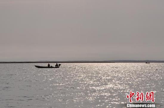 内蒙古东居延海面积达66.3平方公里 为近一百年来最大