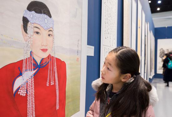 内蒙古庆祝改革开放40周年书画作品展启幕