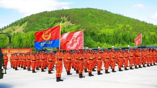大兴安岭森林消防支队举行北部原始林轮战轮训